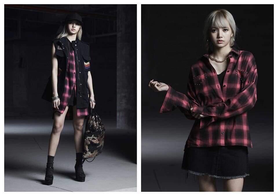 Lisa làm người mẫu cho NONA9ON từ trước khi debut