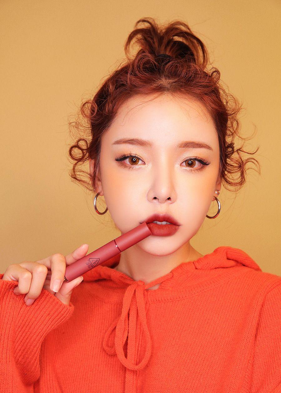 Bảng màu son 3CE Velvet Lip Tint đỏ đất