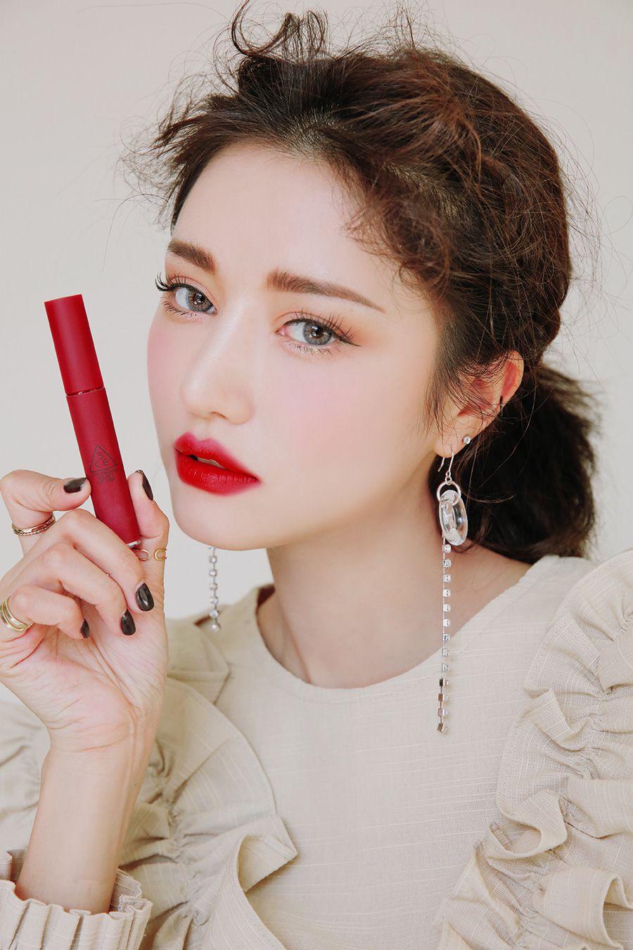 Bảng màu son 3CE Velvet Lip Tint đỏ lạnh
