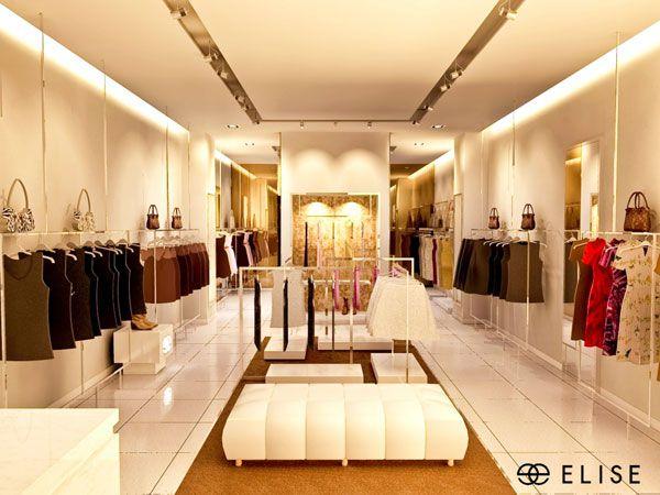 Hệ thống cửa hàng của Elise được thiết kế sang trọng và hiện đại