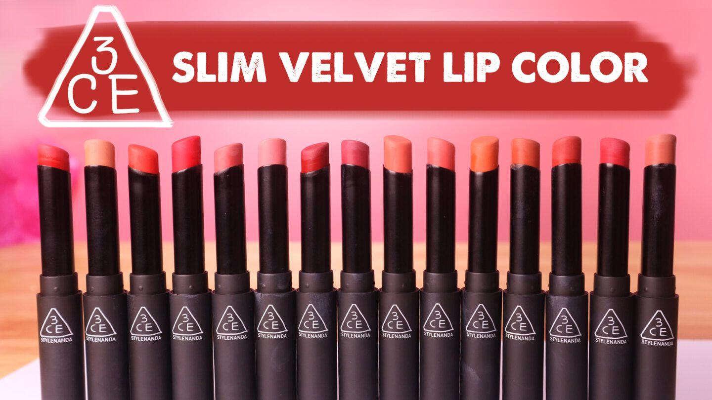 Thiết kế son 3CE Slim Velvet Lip Color đã có sự thay đổi lớn về hình dáng và màu sắc vỏ