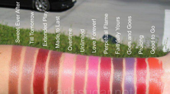 Bảng màu son Mac Pro Longwear Lipcrem