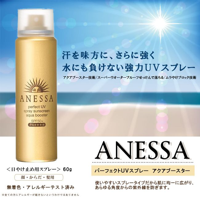 Kem chống nắng dạng xịt Anessa Perfect UV Spray Sunscreen Aqua Booster