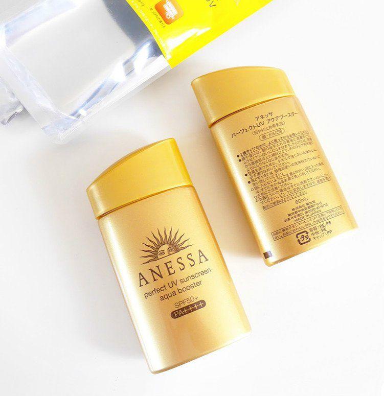 Kem chống nắng Anessa Perfect UV Sunscreen Aqua Booster Mild (màu vàng nhạt)