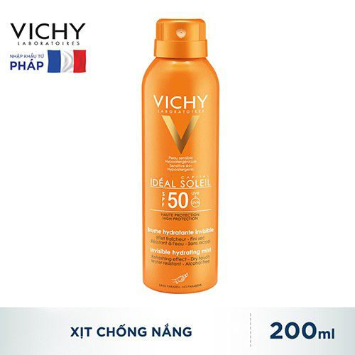 Vichy Ideal Soleil Invisible Hydrating Mist Dry Touch SPF50