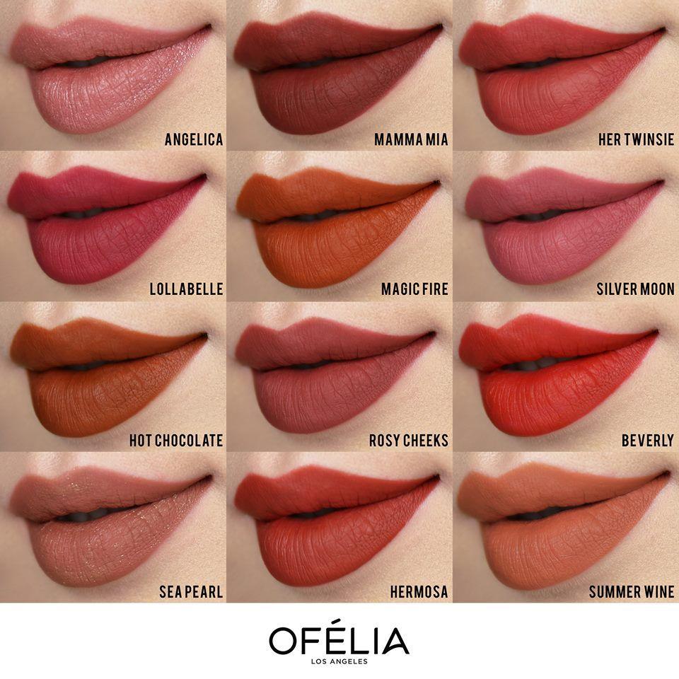 Bảng màu son Ofelia Touch Of Rose