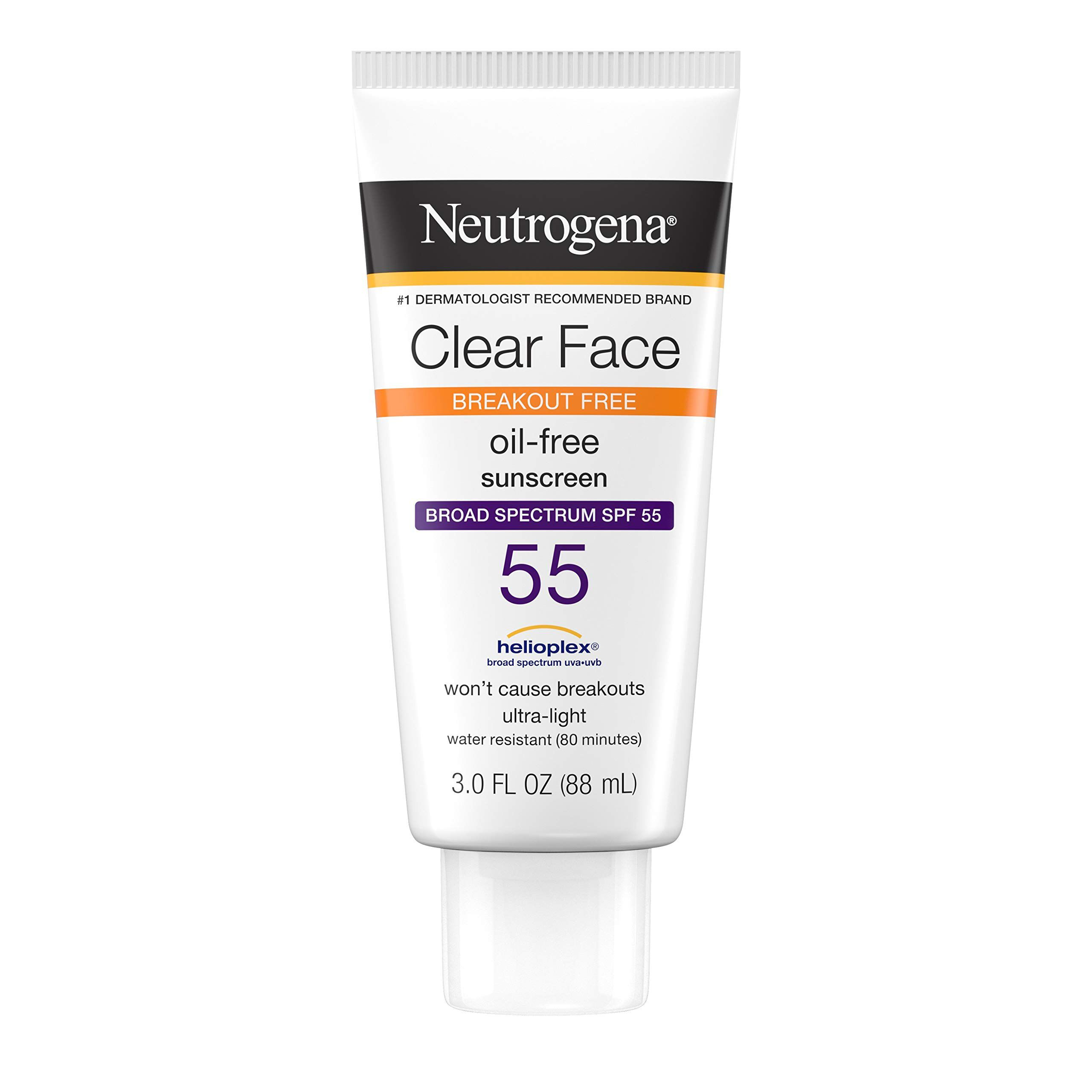 kem chống nắng Neutrogena Clear Face Liquid – Lotion Sunscreen Broad Spectrum SPF 55