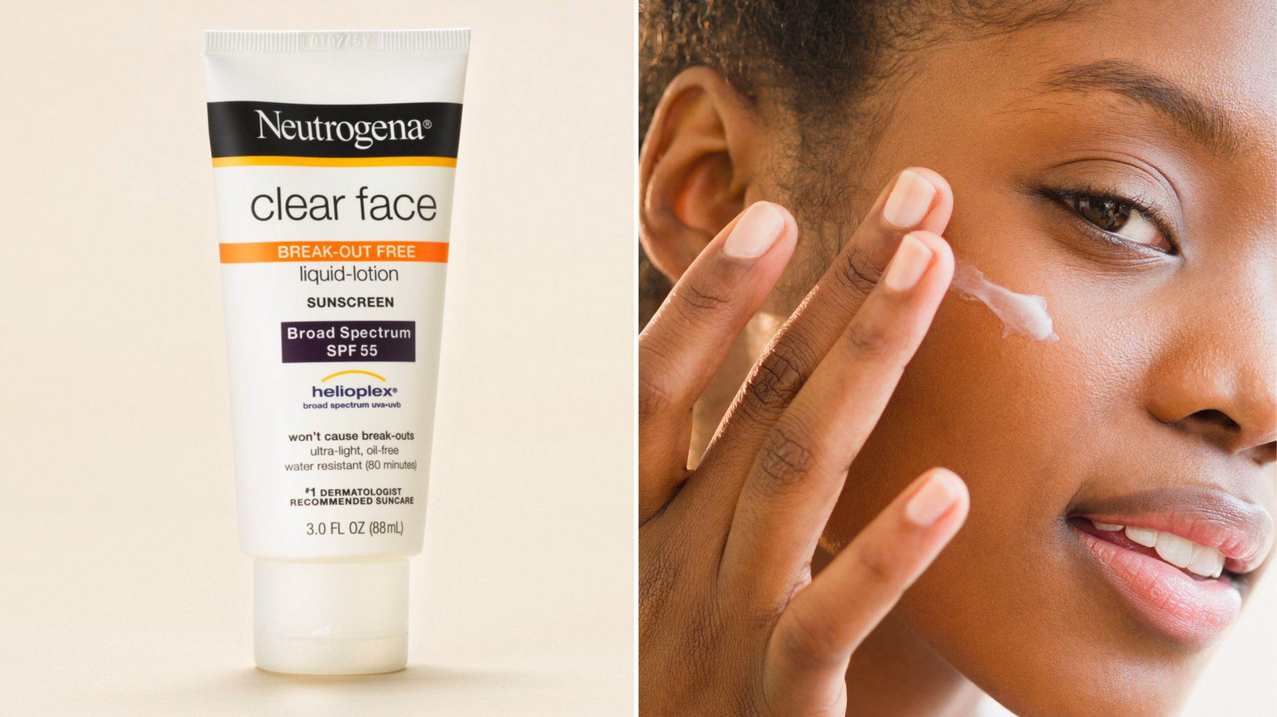 Kem chống nắng Neutrogena Clear Face Liquid SPF 55