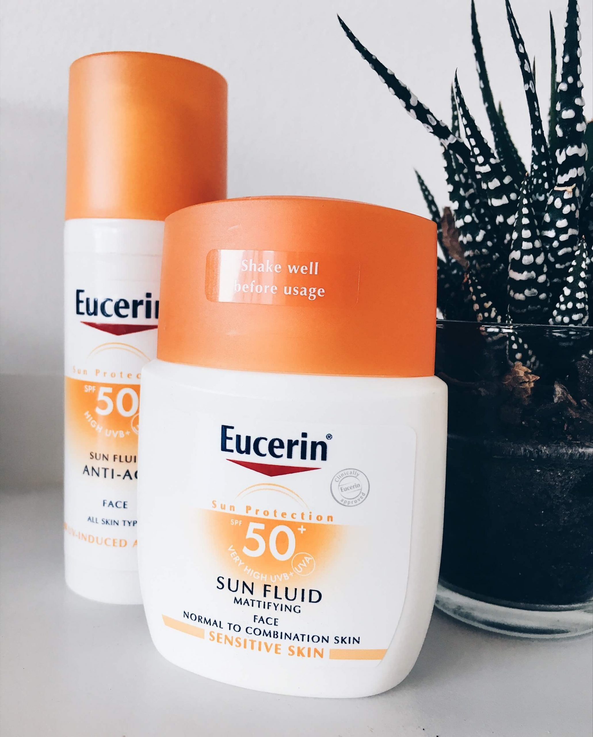 kem chống nắng eucerin Sun Fluid Mattifying Face 2