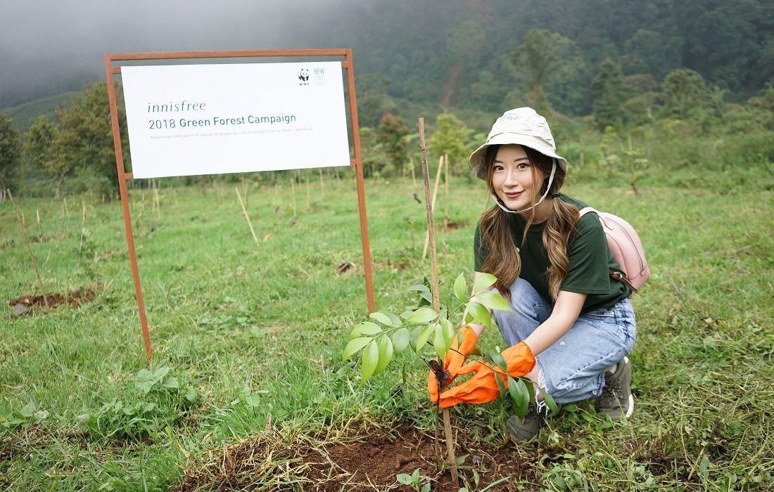 Innisfree thường xuyên tổ chức các hoạt động tái chế nhựa, trồng cây bảo vệ môi trường