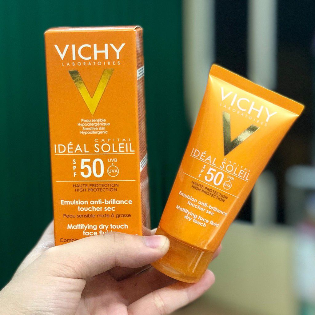 Kem Chống Nắng Vichy Capital Ideal Soleil SPF50+ Mattifying Dry Touch Face Fluid