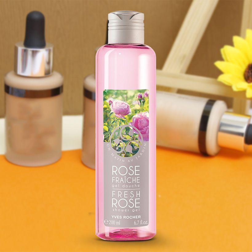 Yves Rocher Fresh Rose Shower Gel 1