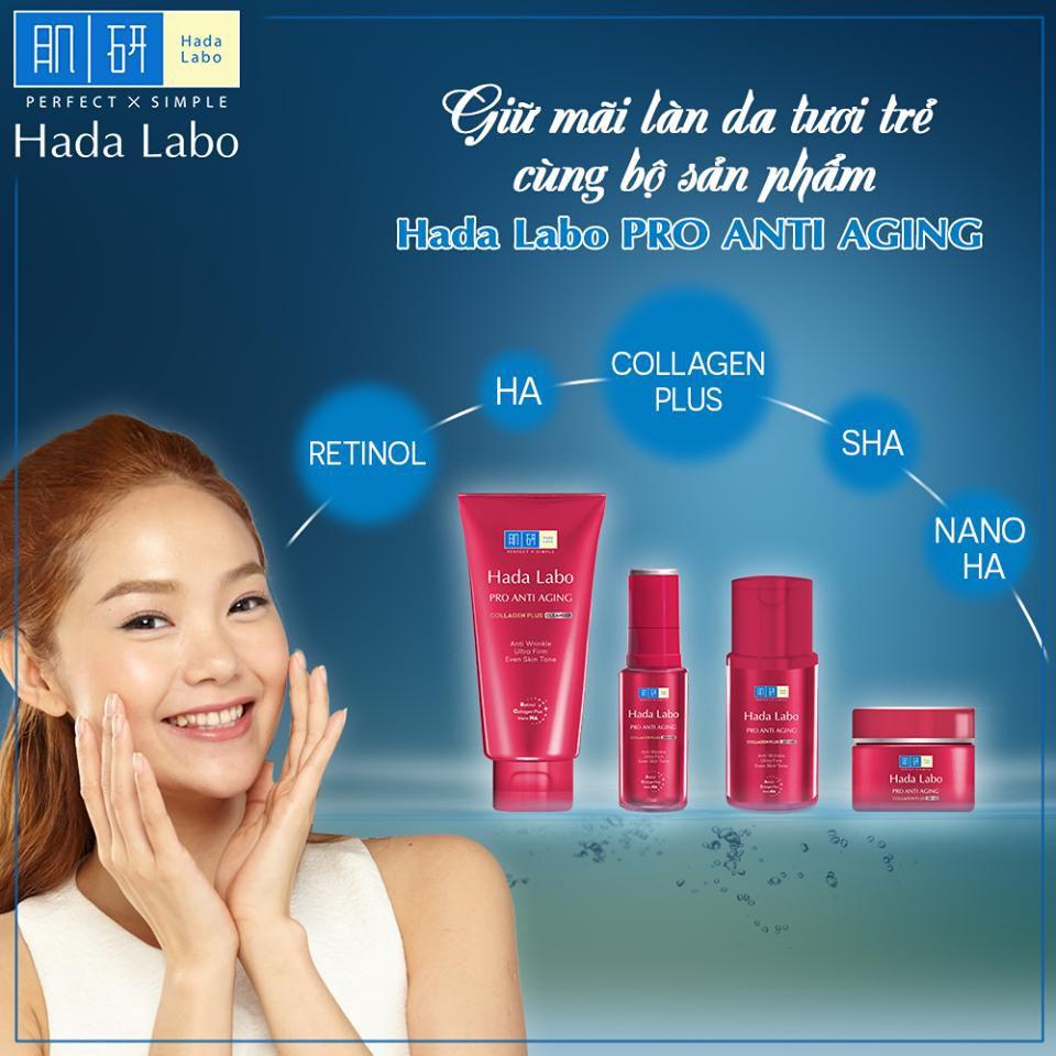 Hada Labo Pro Anti Aging vỏ màu đỏ