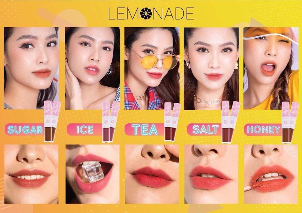 Bảng màu son lemonade Perfect Couple Lip