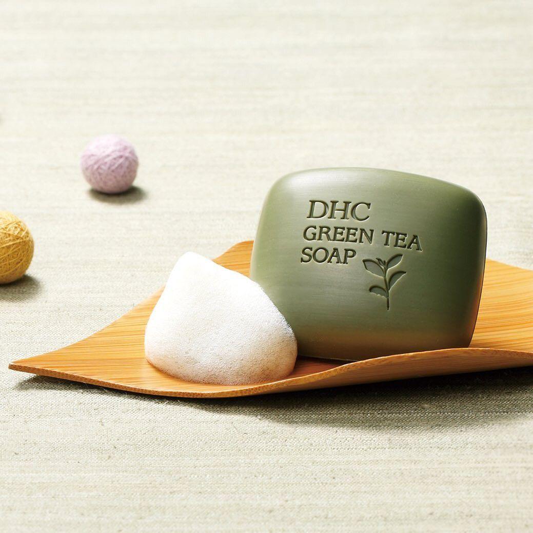 Xà phòng rửa mặt trà xanh Green Tea Soap DHC