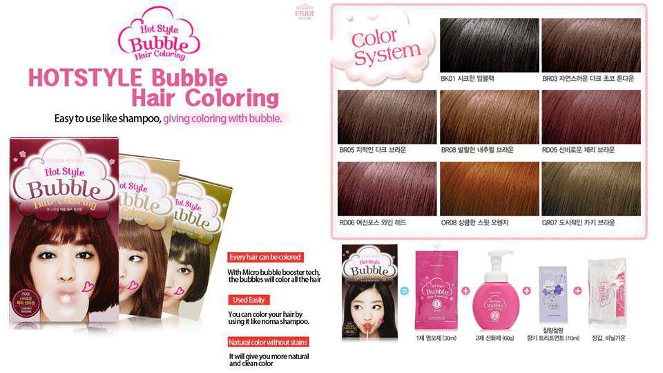 Dầu gội nhuộm tóc dạng bọt Bubble Hair Coloring