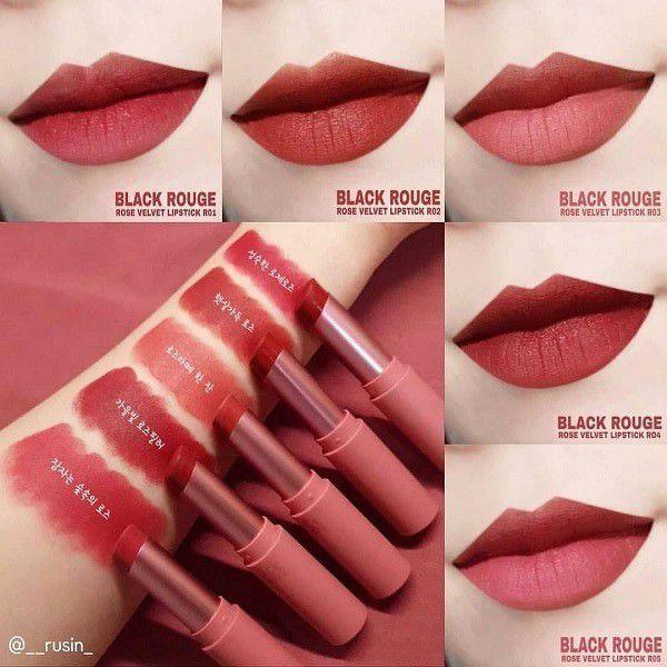 Bảng màu Son Black Rouge Rose Velvet Lipstick