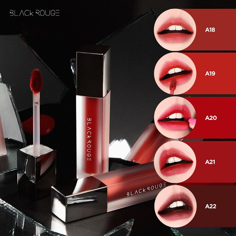 Bảng màu son Black Rouge Air Fit Velvet Tint Version 4 - Bad Rose