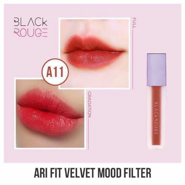 Son Black Rouge Ver 2 A11 Tanned Camellia màu Đỏ nâu
