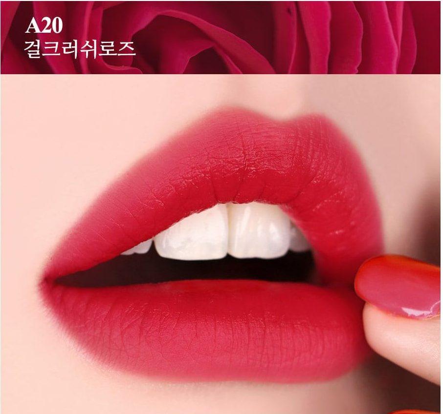 Màu son Black Rouge A21 Prickly Rose - Đỏ nâu