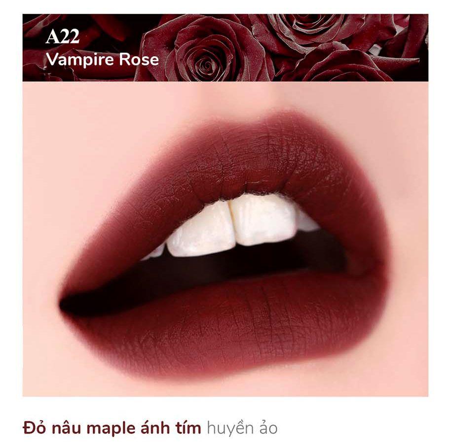 Màu son Black Rouge A22 Vampire Rose - Đỏ nâu ánh tím