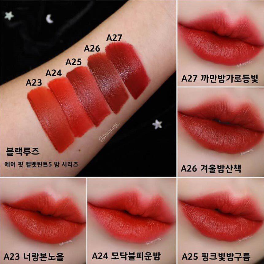Bảng màu son Black Rouge Ver 5