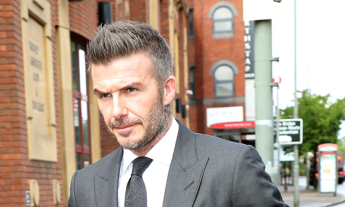 David Beckham với kiểu tóc Crew Cut x mid Fade