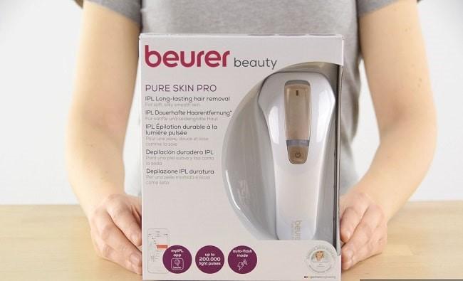 Fullbox sản phẩm máy triệt lông Beurer Pure Skin Pro IPL 5500