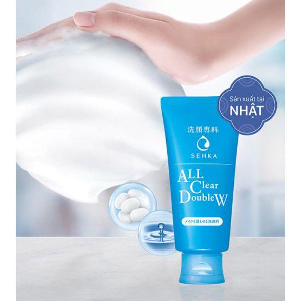 Sữa rửa mặt Senka all clear double w