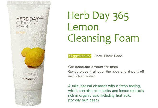 Sữa rửa mặt The Face Shop Herb Day 365 Cleansing Foam Lemon có tốt không