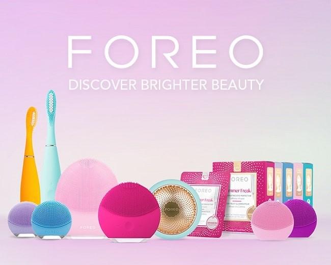 Sản phẩm của Foreo gồm các thiết bị chăm sóc da và nha khoa