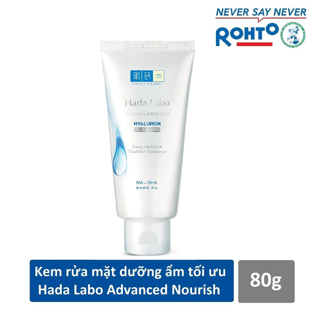 Sữa rửa mặt Hada Labo Advanced Nourish Hyaluron Cleanser (màu trắng)