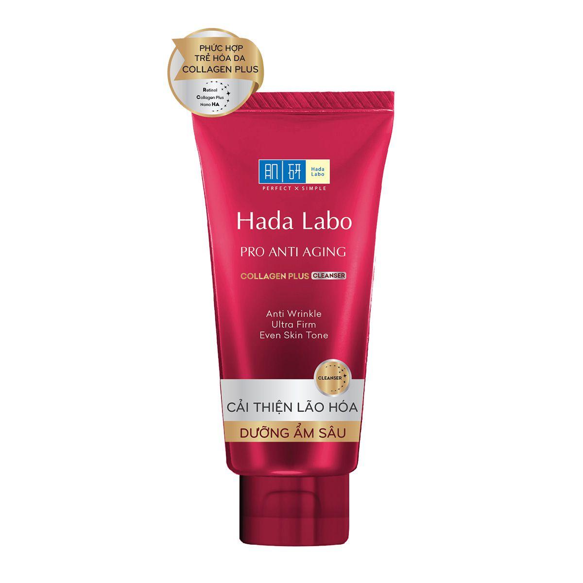 Sữa rửa mặt Hada Labo Nhật Pro Anti Aging Collagen Plus Cleanser 1
