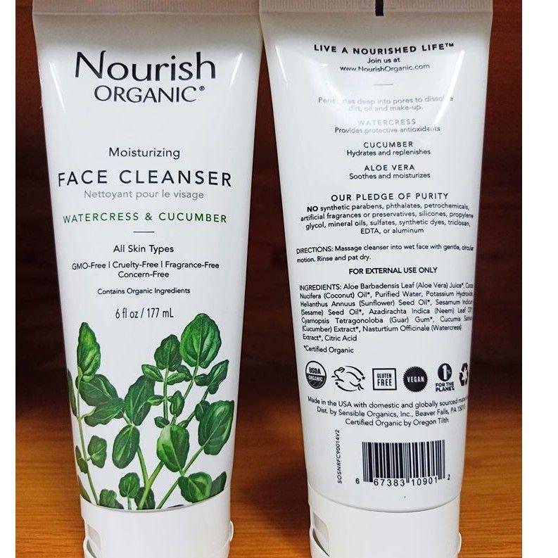 Kết cấu sữa rửa mặt cho da dầu mụn Nourish Organic