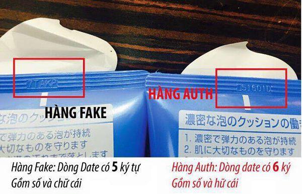 phân biệt sữa rửa mặt Senka Perfect Whip thật và fake