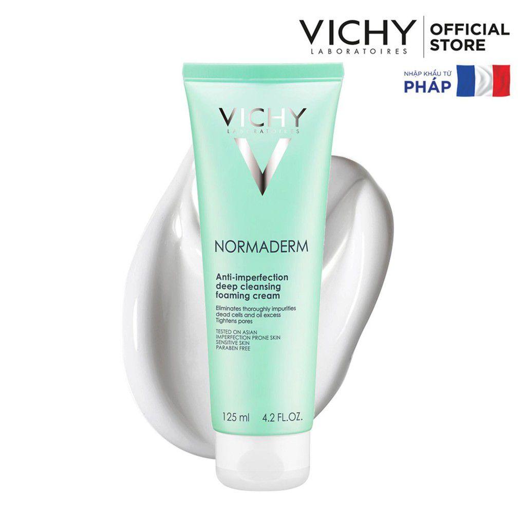 Thành phần và kết cấu sữa rửa mặt cho da dầu Vichy Normaderm