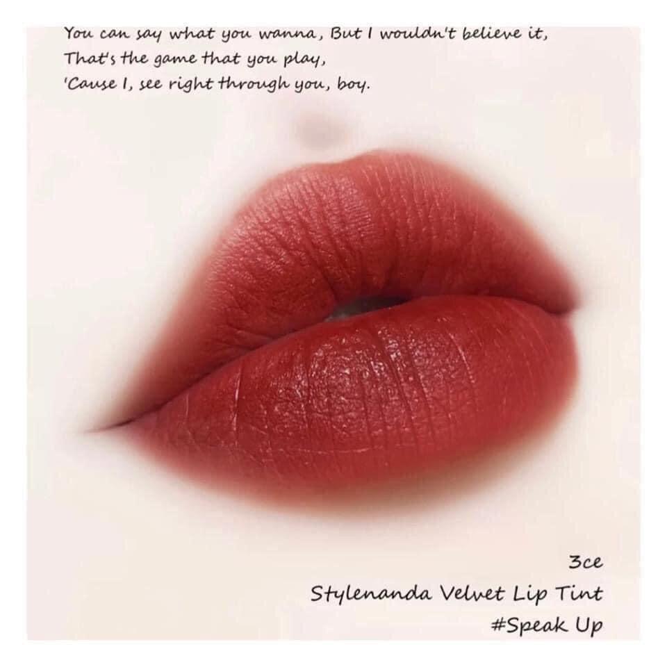 Quyến rũ mới môi son Velvet Lip Tint Speak Up