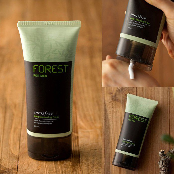 Sữa rửa mặt cho nam Innisfree Forest For Men Deep Cleansing Foam 1