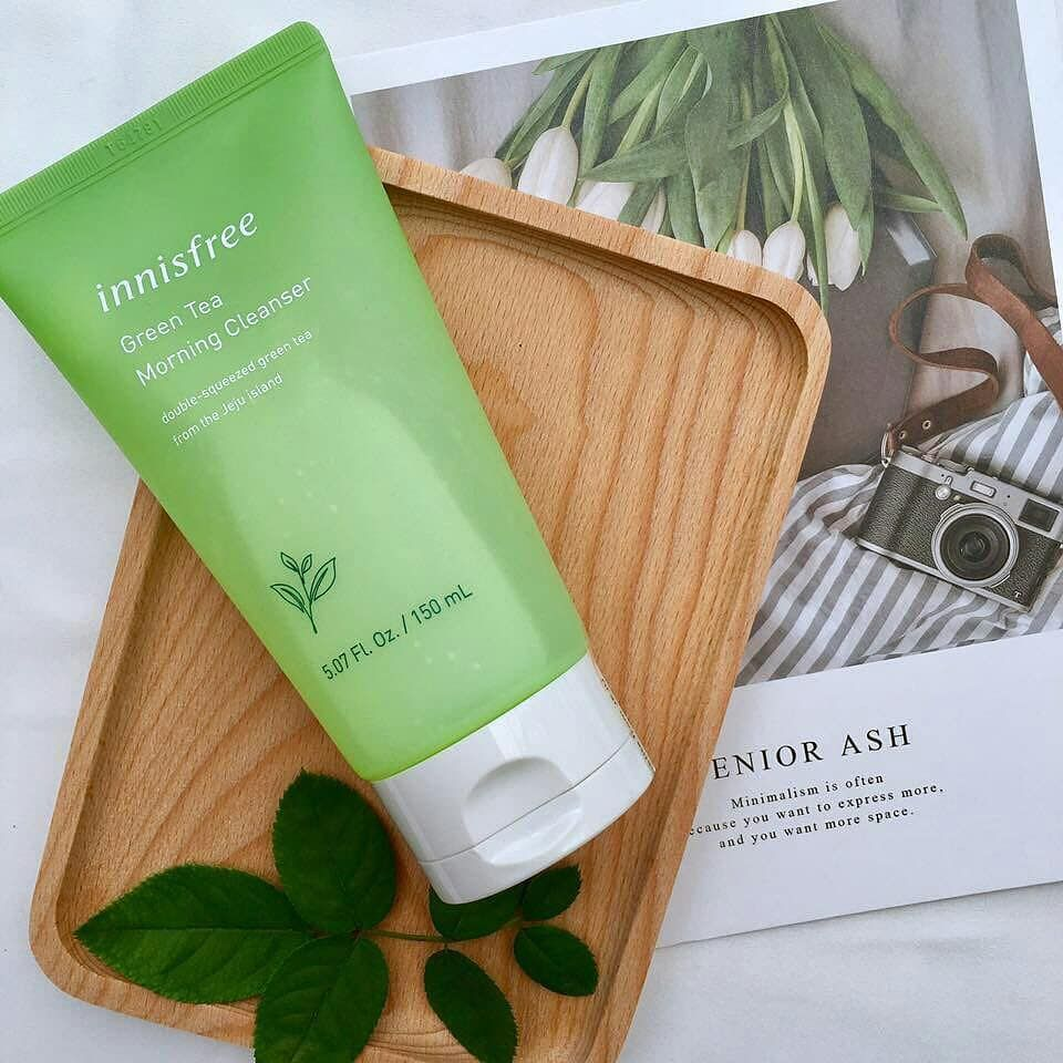 Sữa rửa mặt Innisfree Green Tea Morning Cleanser 2