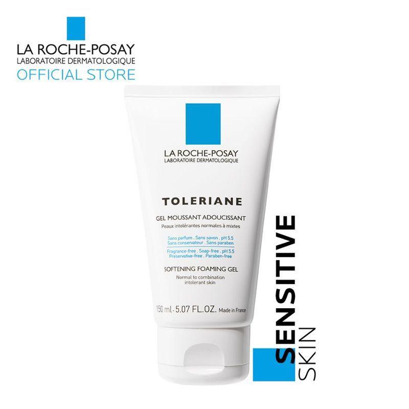 Sữa rửa mặt cho da hỗn hợp thiên dầu La Roche Posay Toleriane Softening Foaming Gel