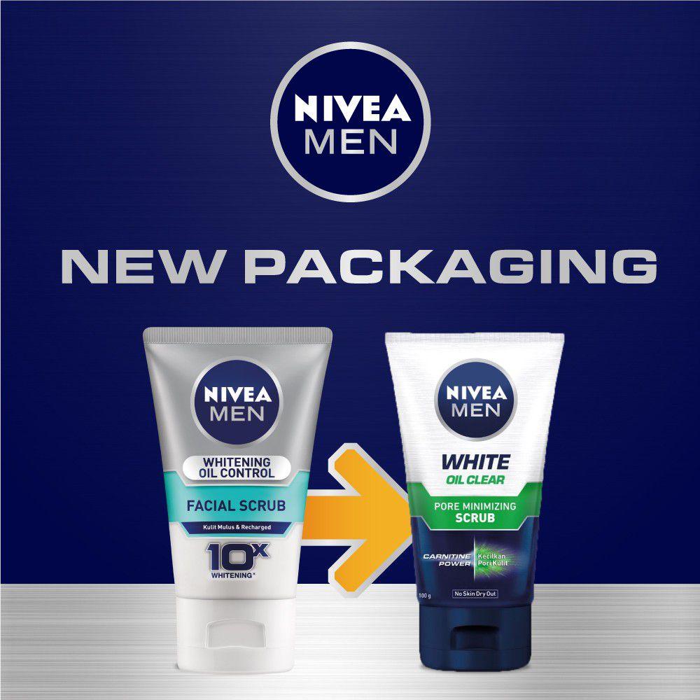 Sữa rửa mặt cho nam da nhờn Nivea Men Oil Control Facial Scrub 1