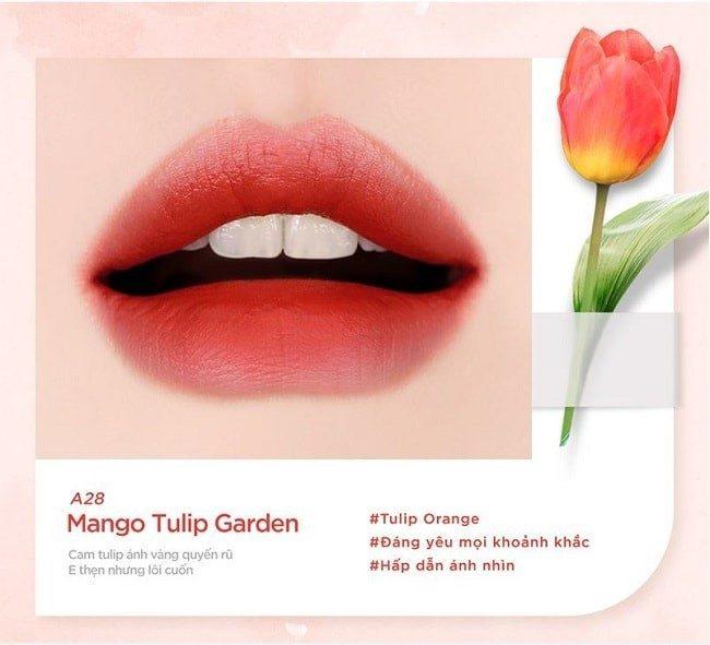 Son Black Rouge Ver 6 màu A28 - Tulip Garden