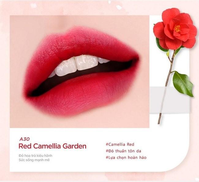 Son Black Rouge Ver 6 màu A30 - Red Camellia Garden