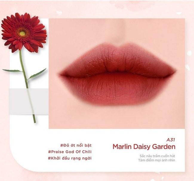 Son Black Rouge Ver 6 màu A31 - đỏ Dry Daisy Garden