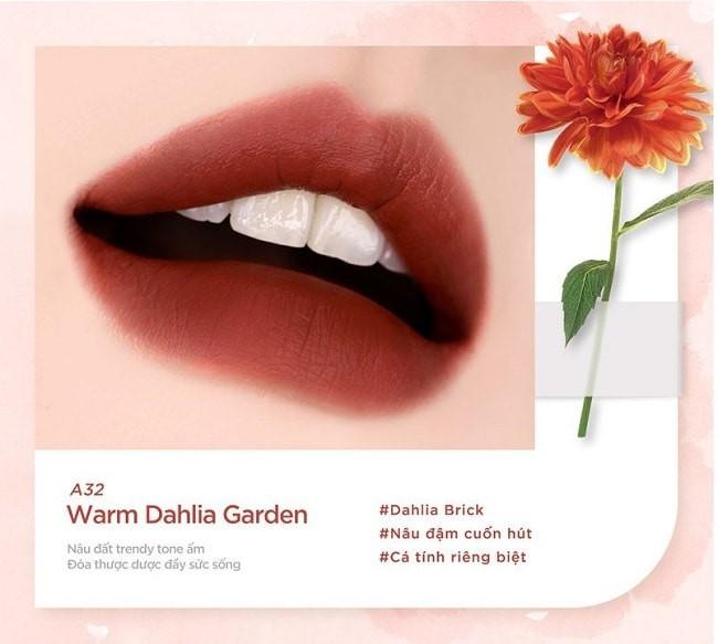 Son Black Rouge Ver 6 màu A32 - Warm Dahlia Garden
