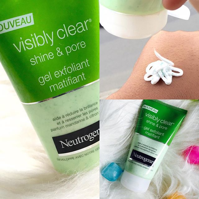 sữa rửa mặt neutrogena visibly clear review