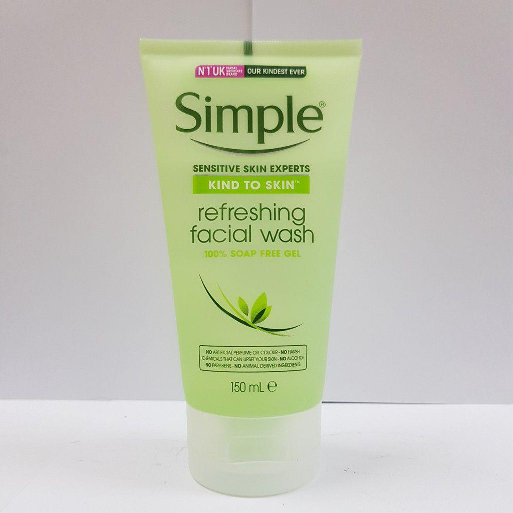 Sữa rửa mặt cho da hỗn hợp thiên dầu Simple Kind To Skin Refreshing Facial Wash Gel