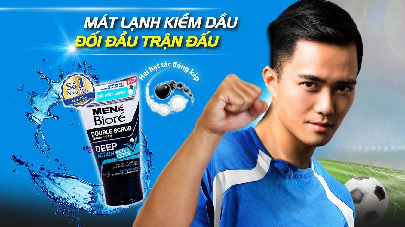 Sữa rửa mặt cho nam Men's Biore Double Scrub Facial Foam Extra Cool