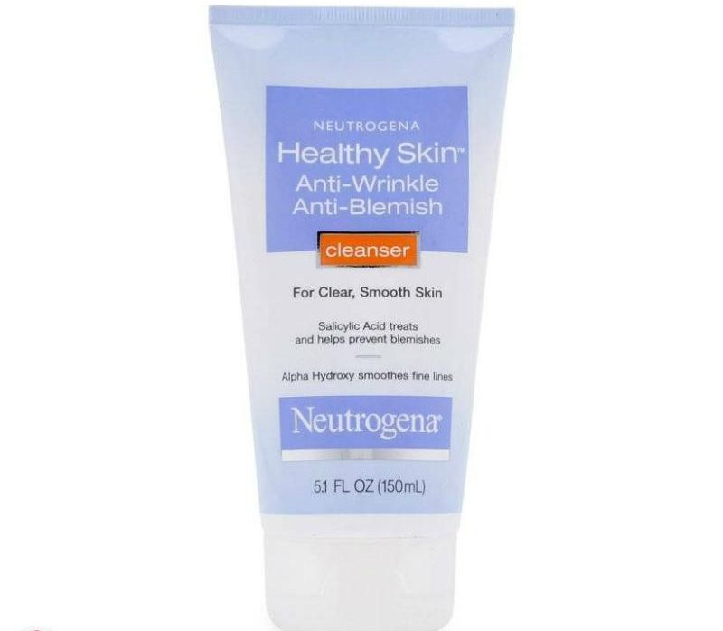 Sữa rửa mặt Neutrogena Healthy Skin Anti-Wrinkle Anti Blemish Cleanser 1