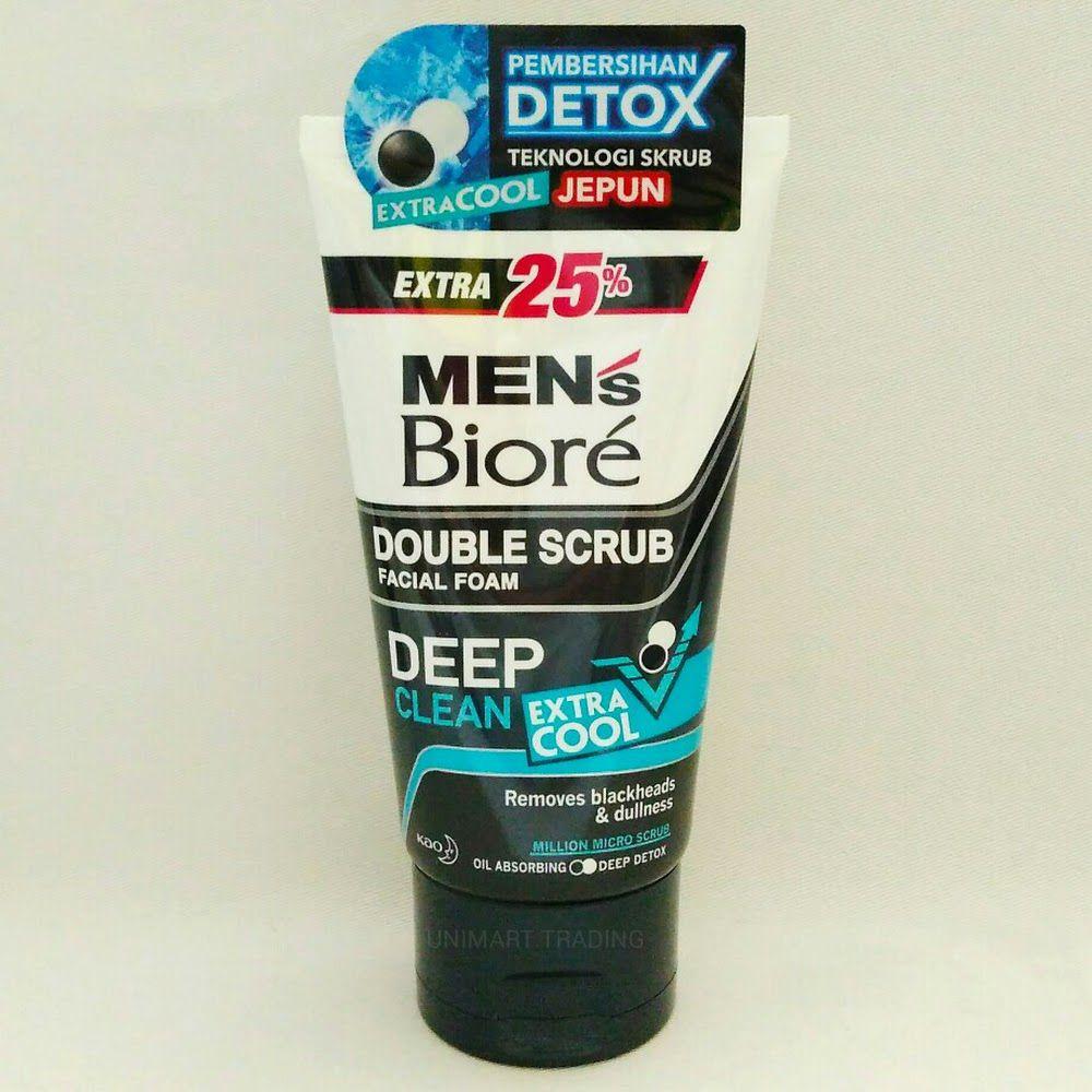 Sữa rửa mặt cho nam Men's Biore Double Scrub Facial Foam Extra Cool 1